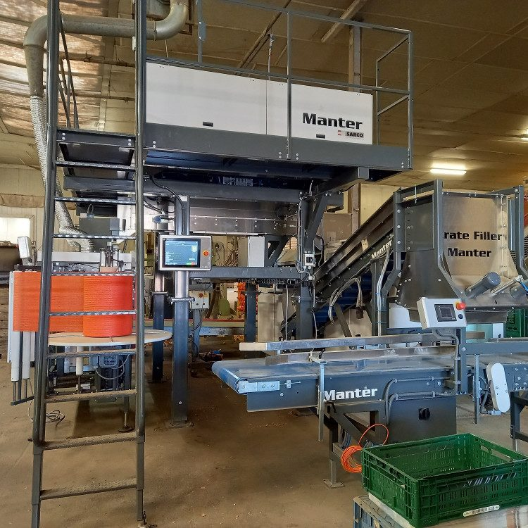 Installation of onion weighing and packaging line at Kimco Belgium.